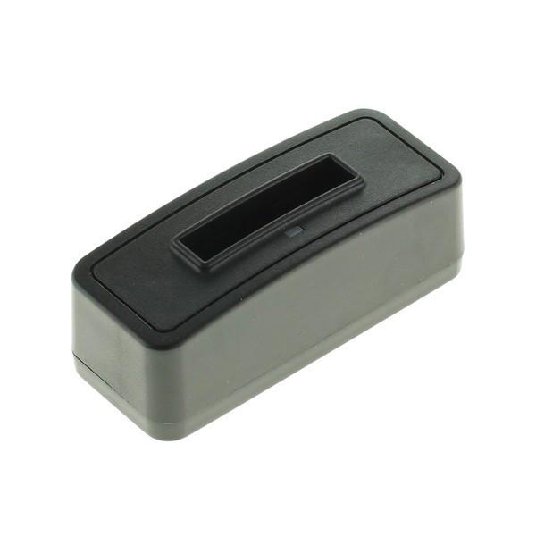 Akkuladestation für Panasonic Akku CGA-S005, Fuji NP-70, zum separaten Laden eines Akkus, mit Micro-