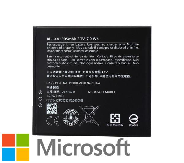 Akku Original Microsoft für Lumia 535, Typ BL-L4A, 1905mAh, 3.7V